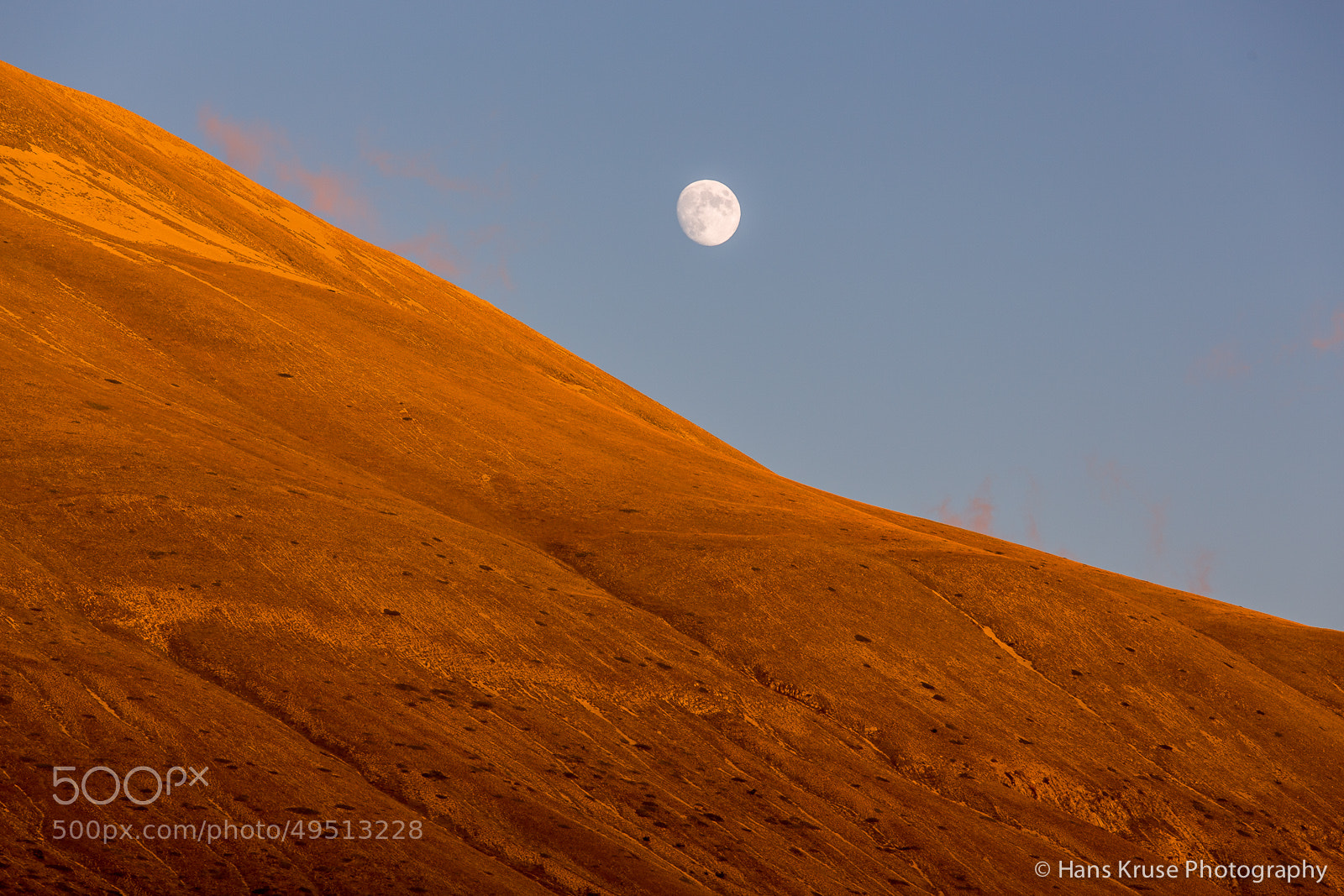 Photograph Sunset in Umbria with rising Moon by Hans Kruse on 500px