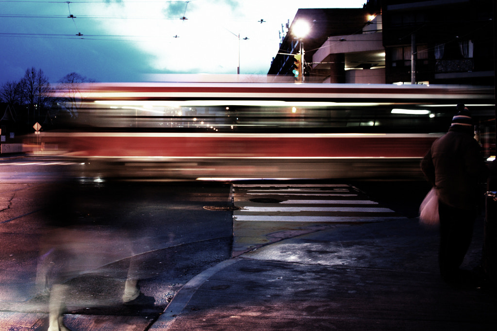 Photograph Streetcar light trails by Simon Carr on 500px