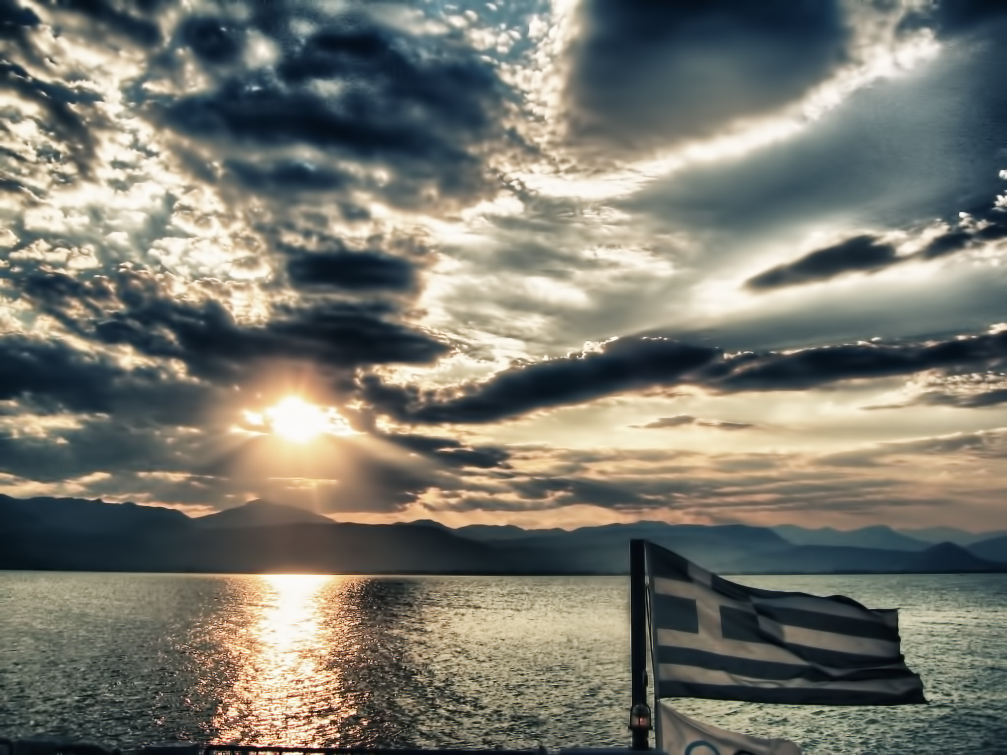 Photograph Greek sunset HDR by Peter BABILOTTE on 500px