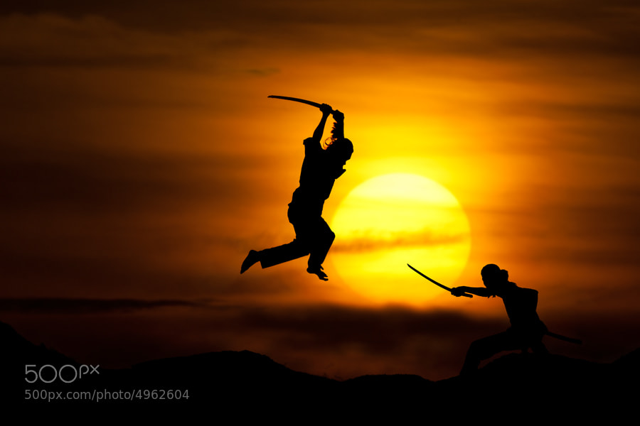 Photograph fighting by pink sword on 500px