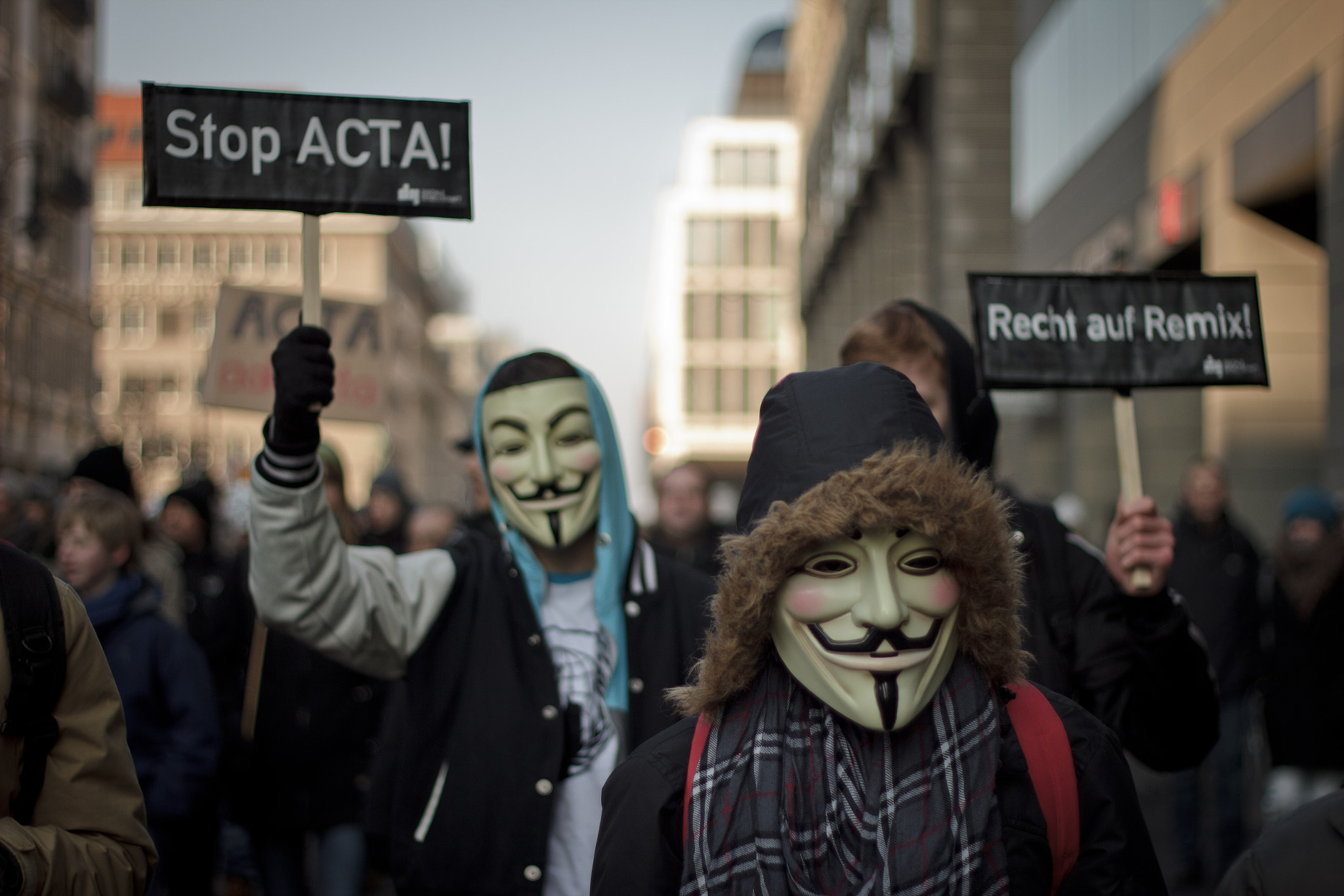 Photograph ACTA Protest Berlin - Guy Fawkes by Jan Brennenstuhl on 500px