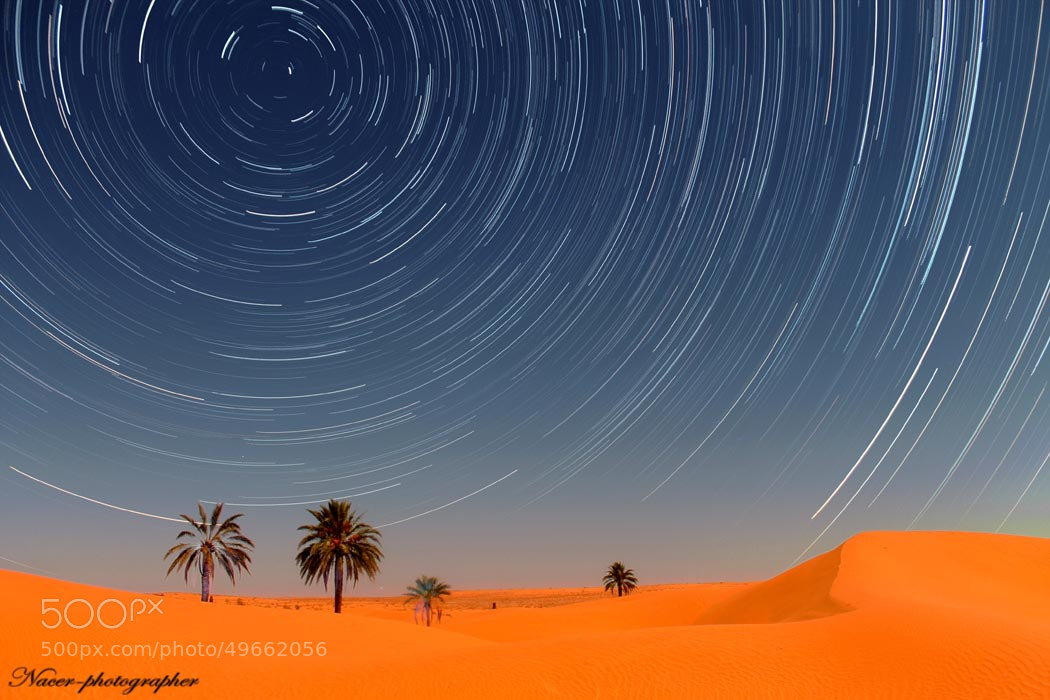Photograph startraile at night of moon 13 by nacer zizo on 500px