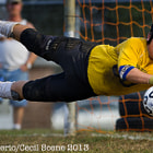 Dustin Krahn dives for a save in Perryville's 3-0 loss to Bel Air in UCBAC soccer at Perryville High School.
