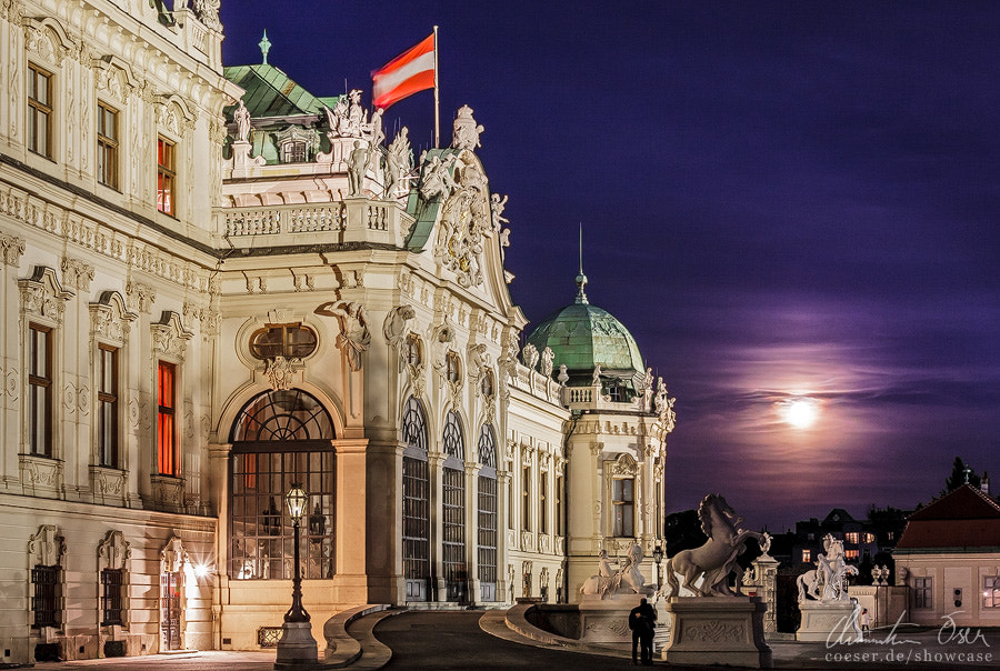 Photograph Belvedere at full moon by Christian Öser on 500px