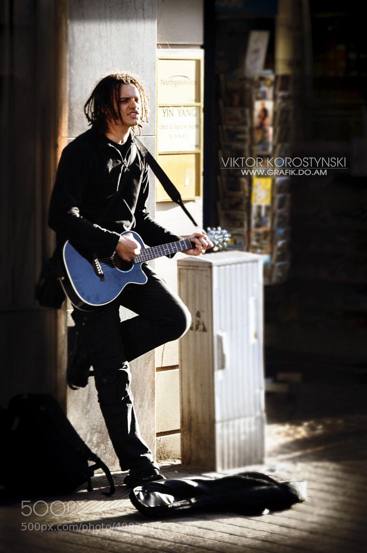 Photograph Musician on the street of Luxembourg by Viktor Korostynski on 500px