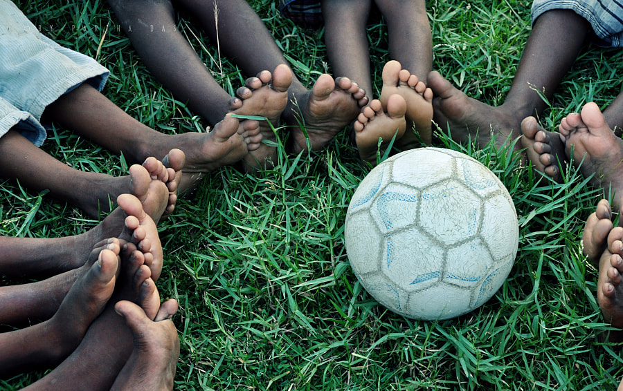 Photograph foots and ball... by Partha Das on 500px