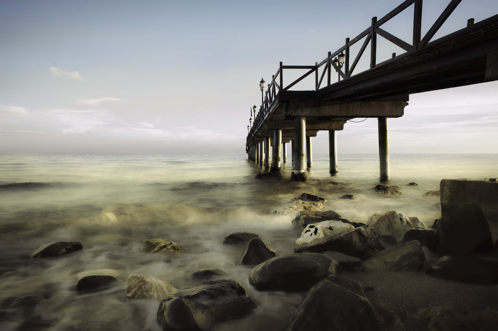 Photograph Marbella Pier by Photographing London on 500px