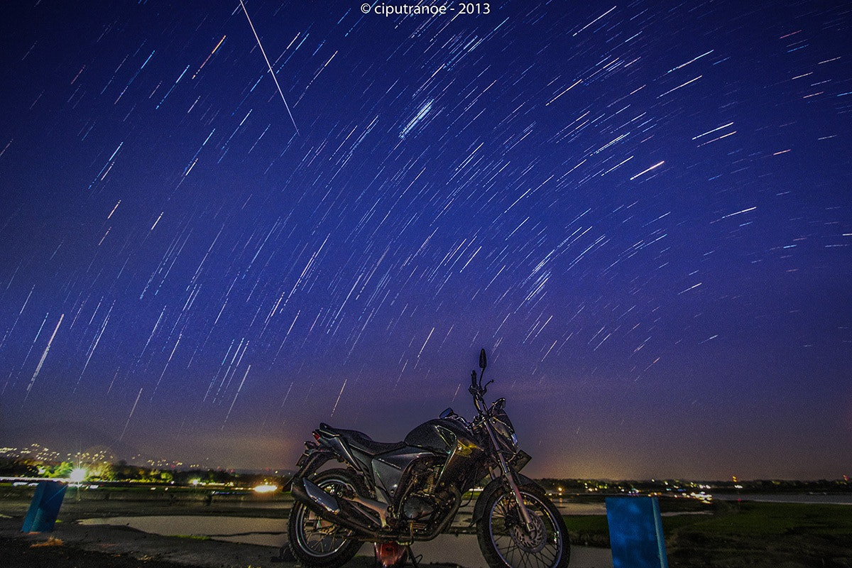 Photograph Star Trail at night by Ciput Ranoe on 500px