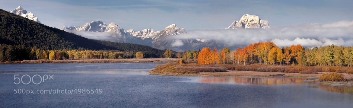 Photograph Oxbow Bend Panorama by Randall  Roberts on 500px