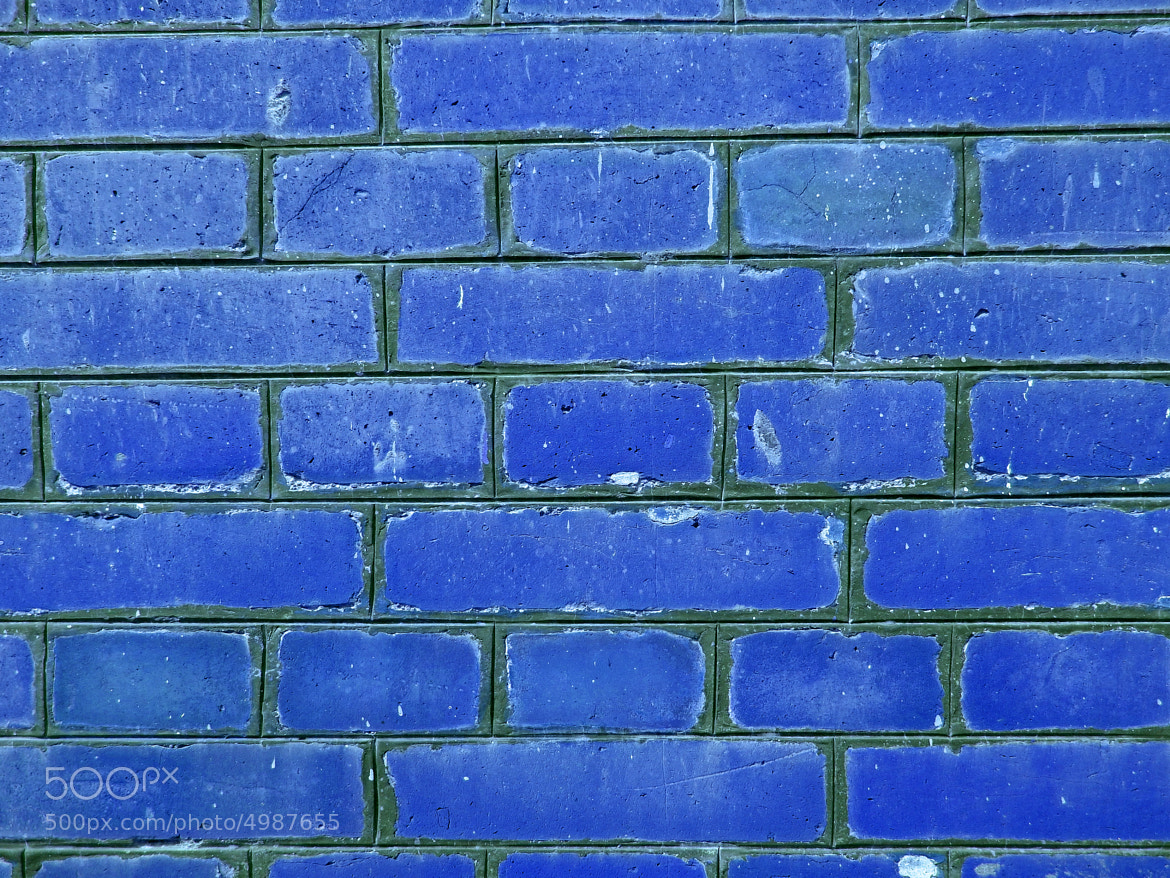 Photograph Blue Brick Wall Pattern  by Ankit Panchal on 500px