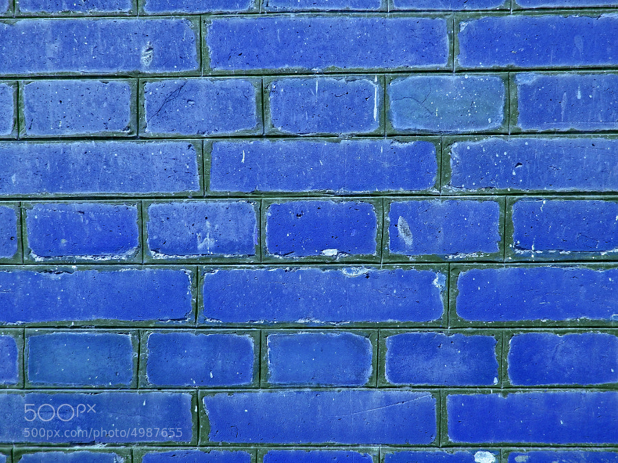 Blue Brick Wall Pattern  by Ankit Panchal (ankitpanchal) on 500px.com