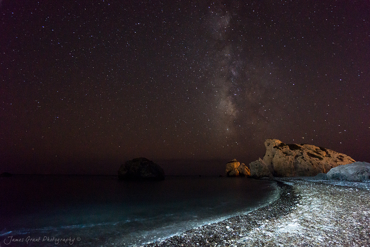 Photograph Aphrodites Rock Milky Way by James Grant on 500px