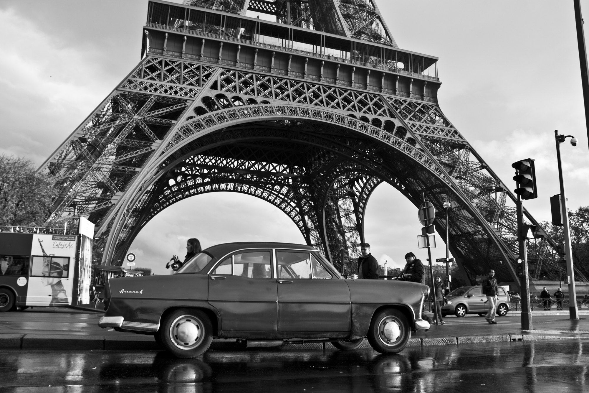 Photograph Old car in Eiffel Tower by VuThéara Kham on 500px