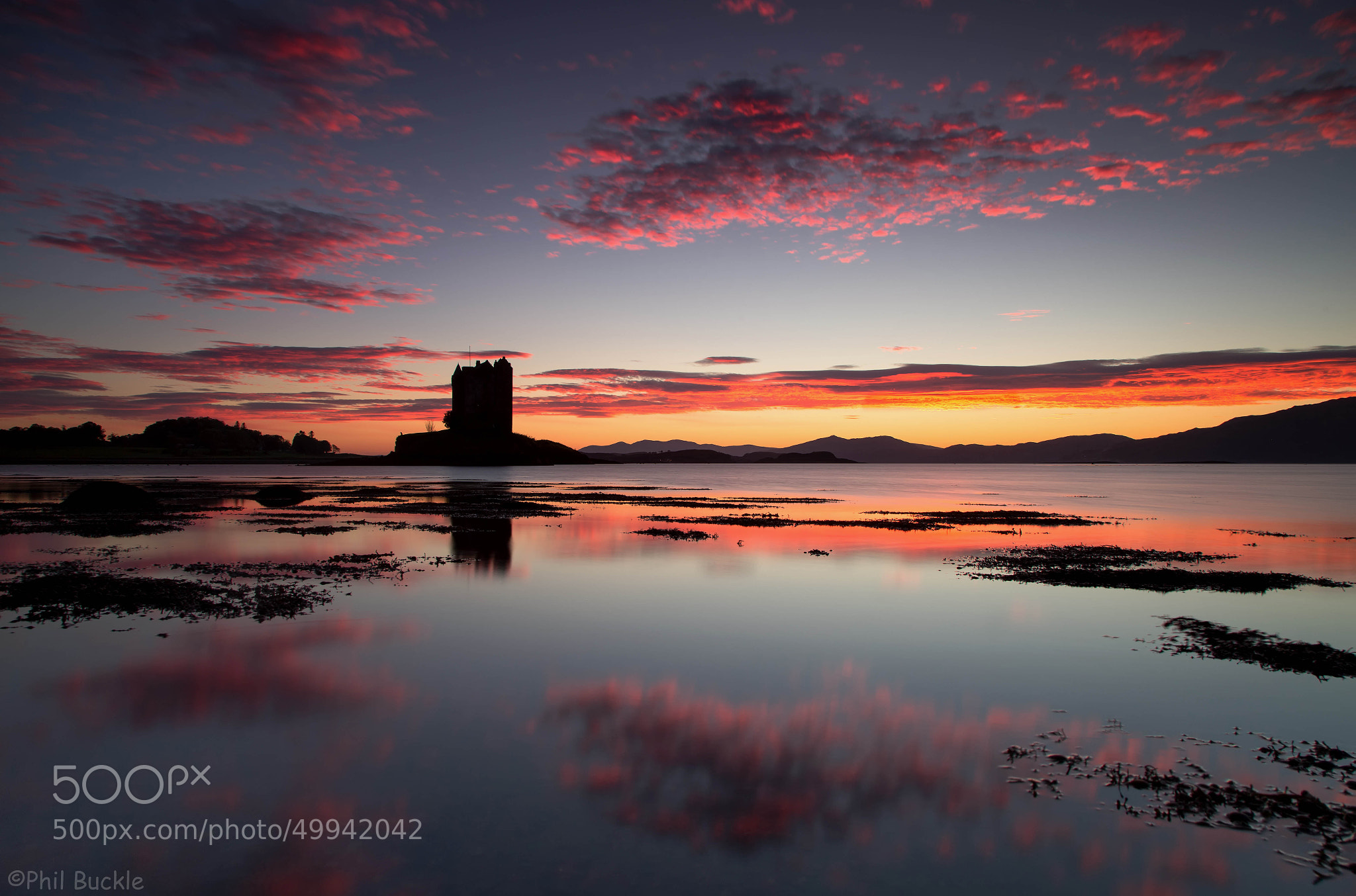 Photograph Castle Stalker Sunset by Phil Buckle on 500px