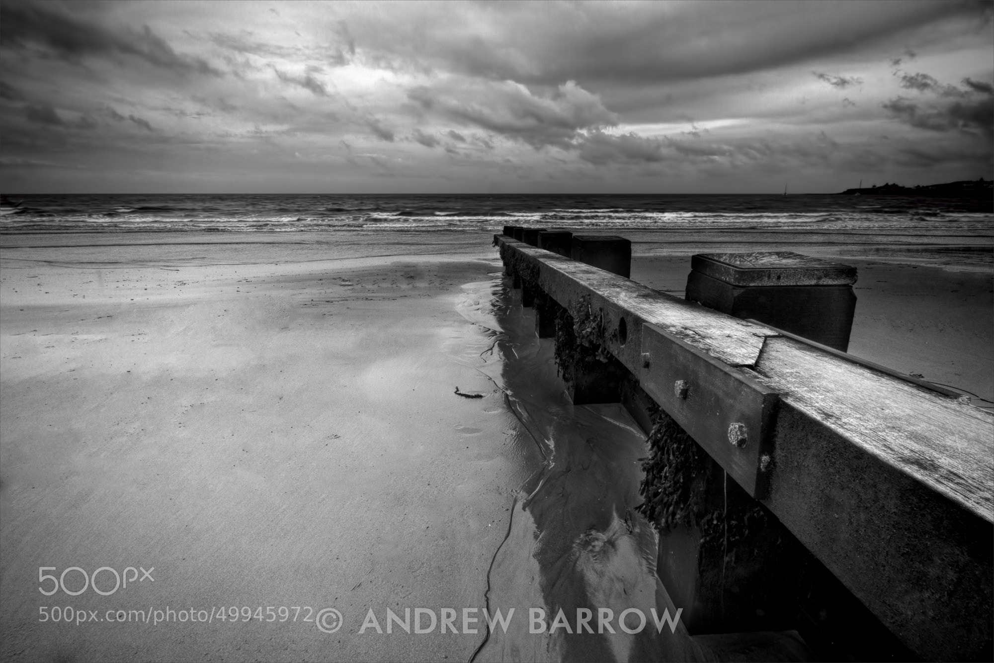 Photograph Ocean Groyne at Low Tide by Andrew Barrow LRPS on 500px