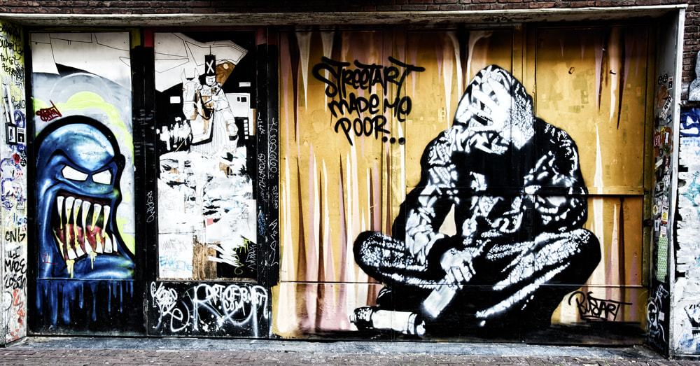 Photograph Streetart made me poor... by Paolo Costantino on 500px