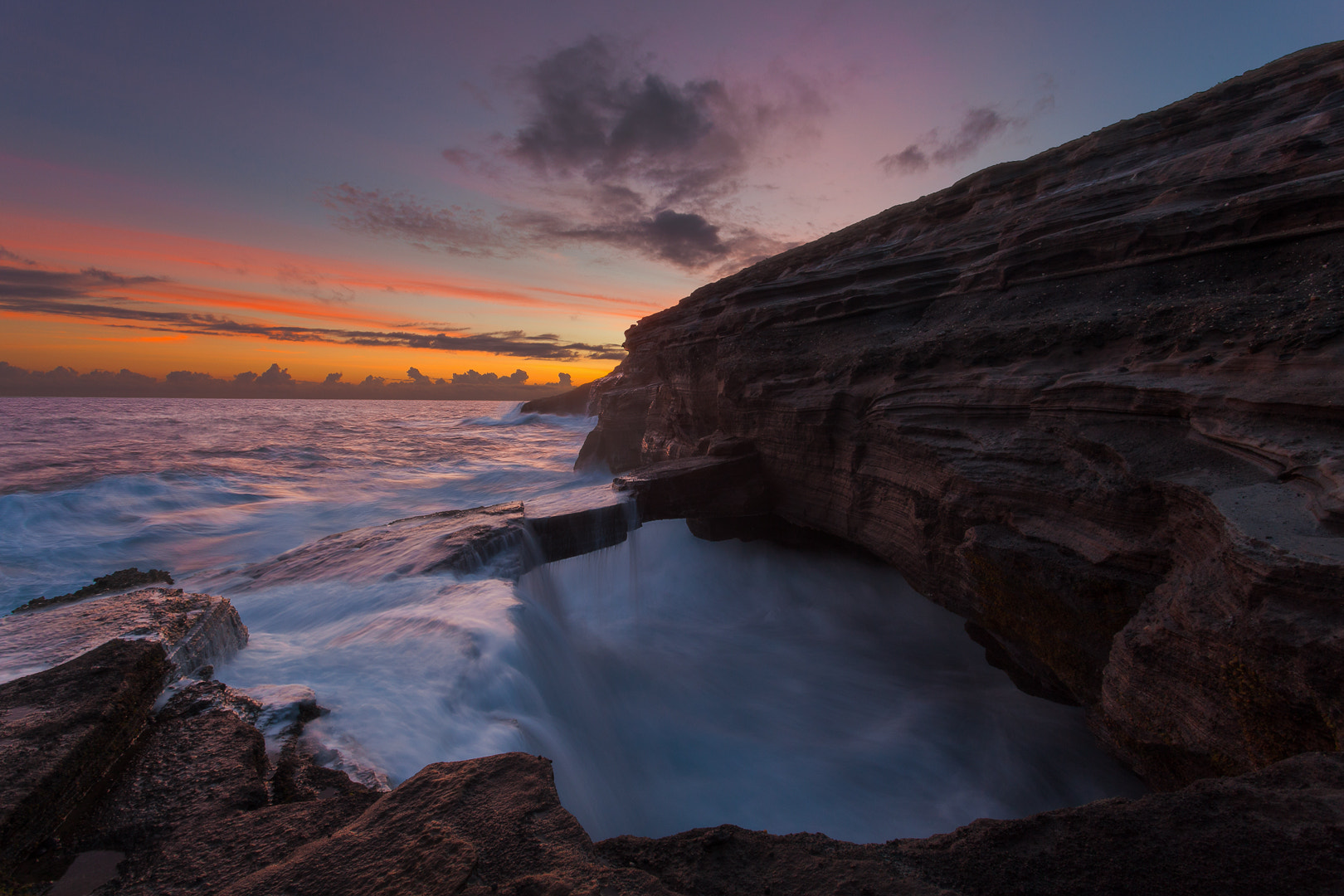 Photograph The Fable Oahu Rock Bridge (Dusk Edition) by Raymond De Bui on 500px