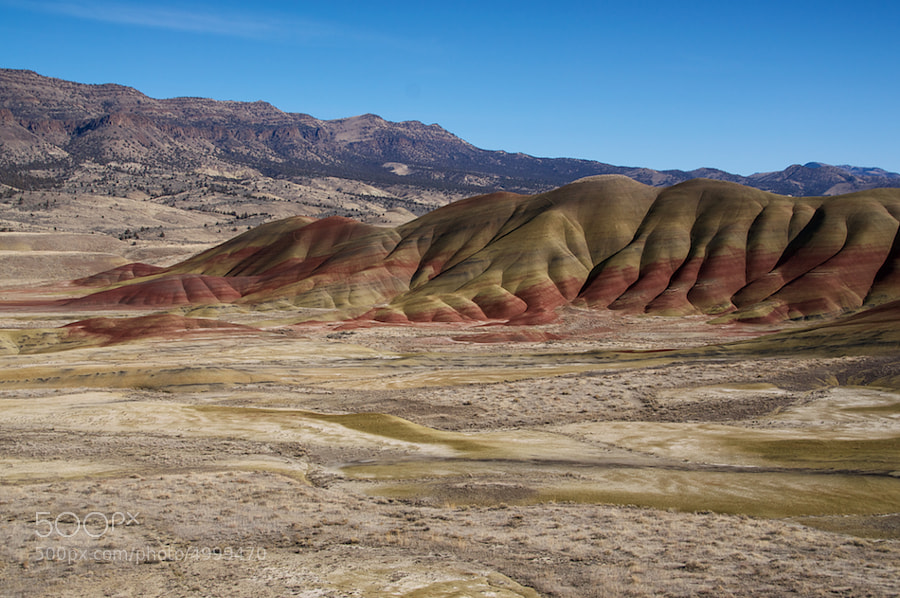 I took a trip out to the Painted Hills portion of the John Day Fossil Beds National Monument today. Pretty cool place. Very remote.