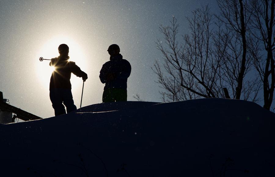 Skiers Silhoutte