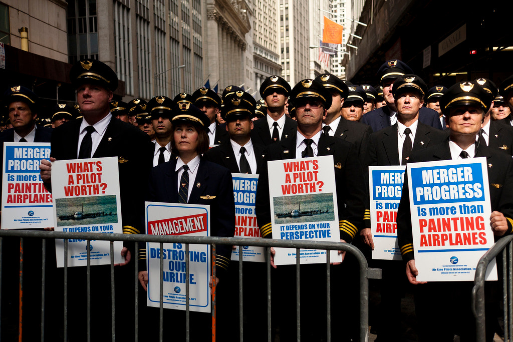 Photograph Pilots March on Wall Street by Dan Nguyen on 500px