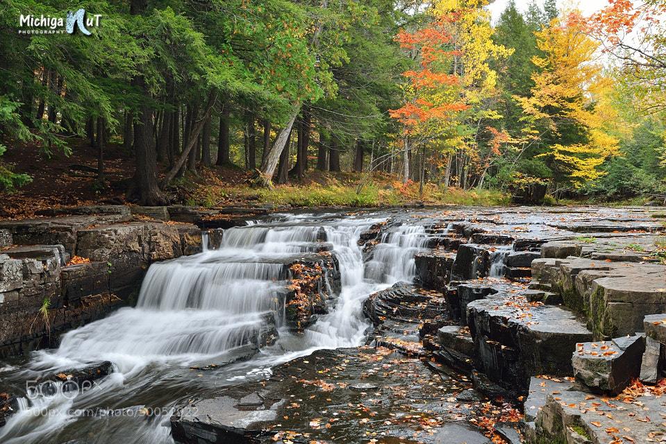Photograph Autumn at Quartzite Falls Upper Michigan by John McCormick on 500px
