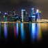 Downtown Singapore lights from Marina Bay Sands.