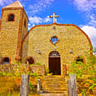 Hand-Built Spanish Church in the Philippines