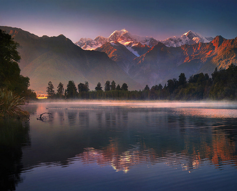 Photograph Lake Metheson : New Zealand by Weerapong Chaipuck on 500px