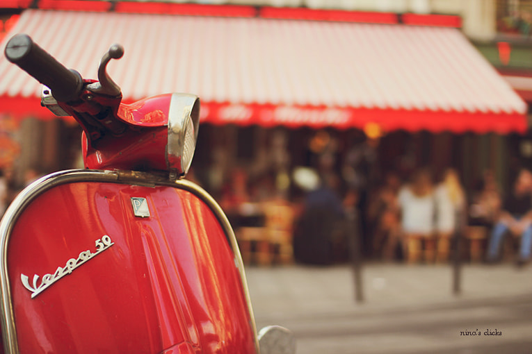 Photograph Red Vespa by Nina's clicks on 500px
