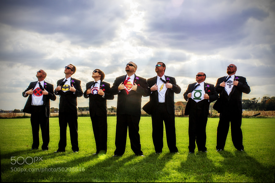 Photograph Super Heroes groomsmen by Brandon Allen on 500px