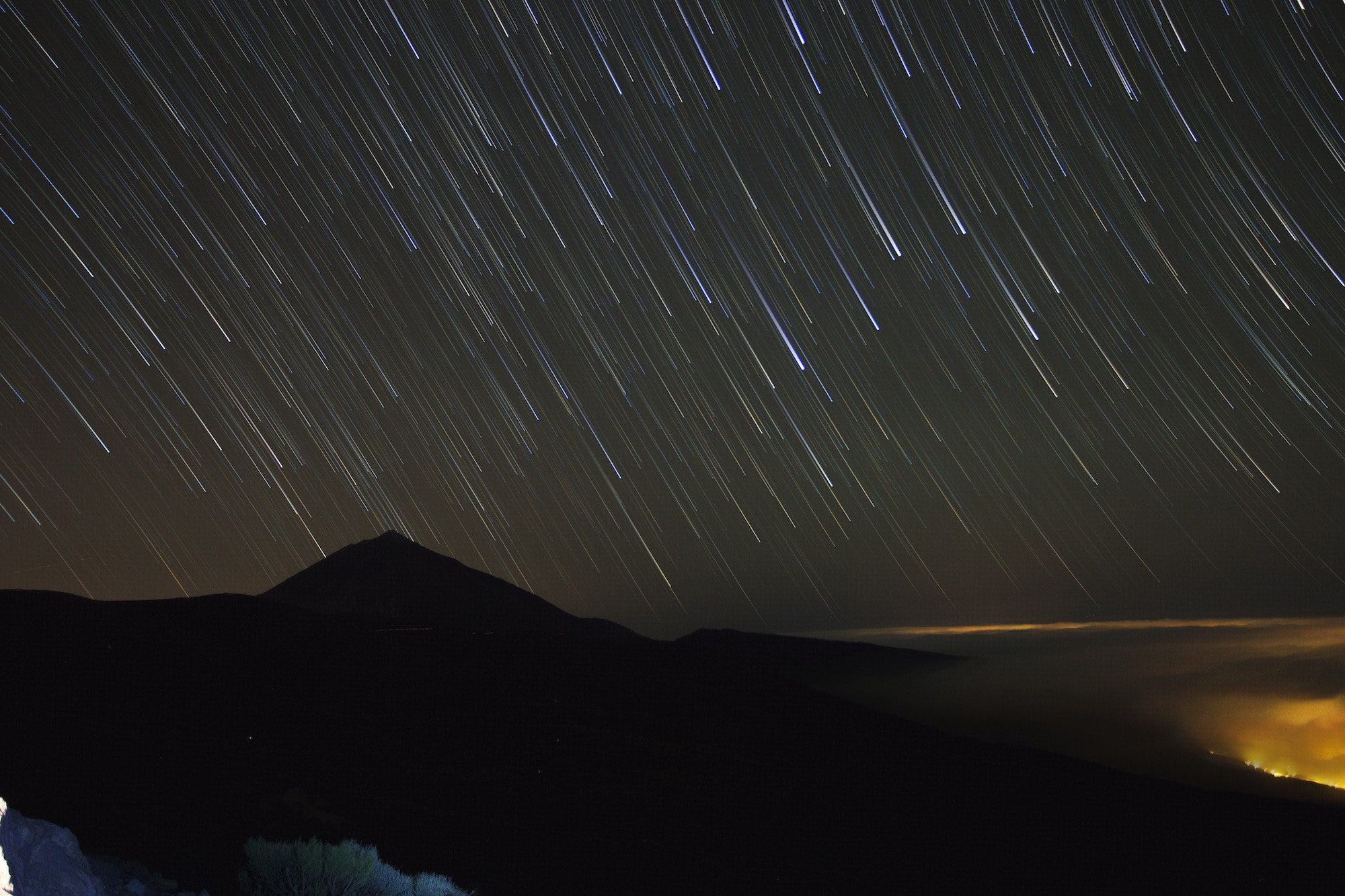 Photograph Startrails over Teide by Tim Nazarov on 500px