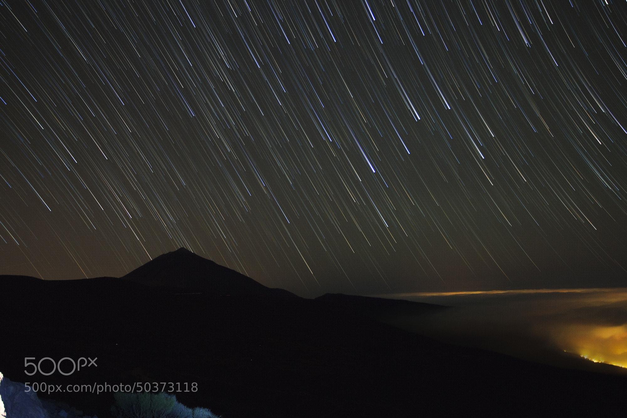 Photograph Startrails over Teide by Tim Nazarov on 500px