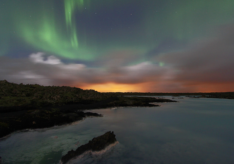 Photograph Aurora at Blue lagoon. by kanya  hanklang on 500px
