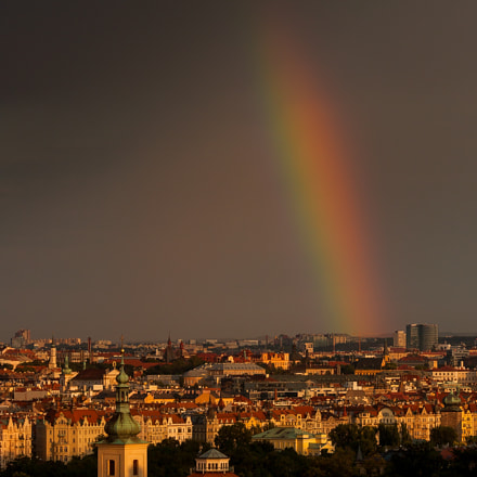Rainbow over Prague