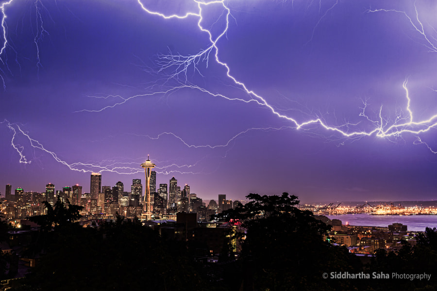 Photograph Seattle Thunderstorm by Siddhartha Saha on 500px