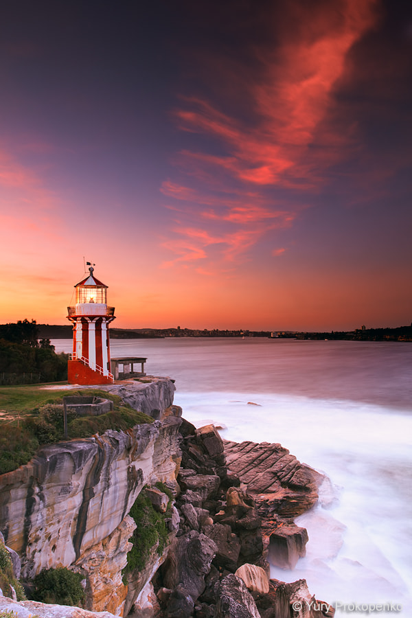 Photograph Hornby Lighthouse at Sunset by Yury Prokopenko on 500px