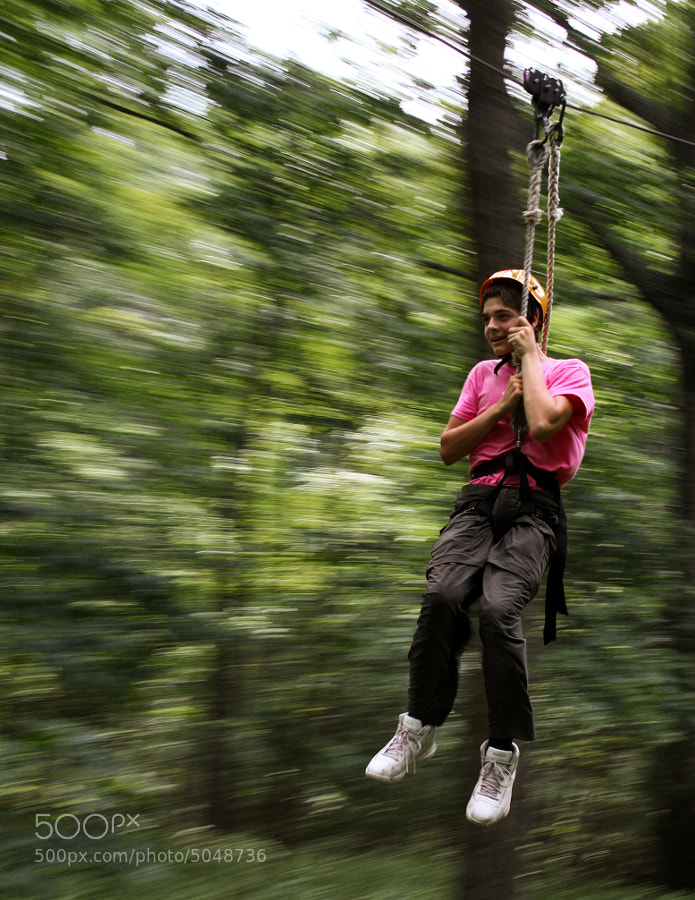 The Zip Line is part of the COPE Course, Challenging Outdoor Personal Experience Course, at BSA Camp Tuckahoe, Dillsburg, Pennsylvania