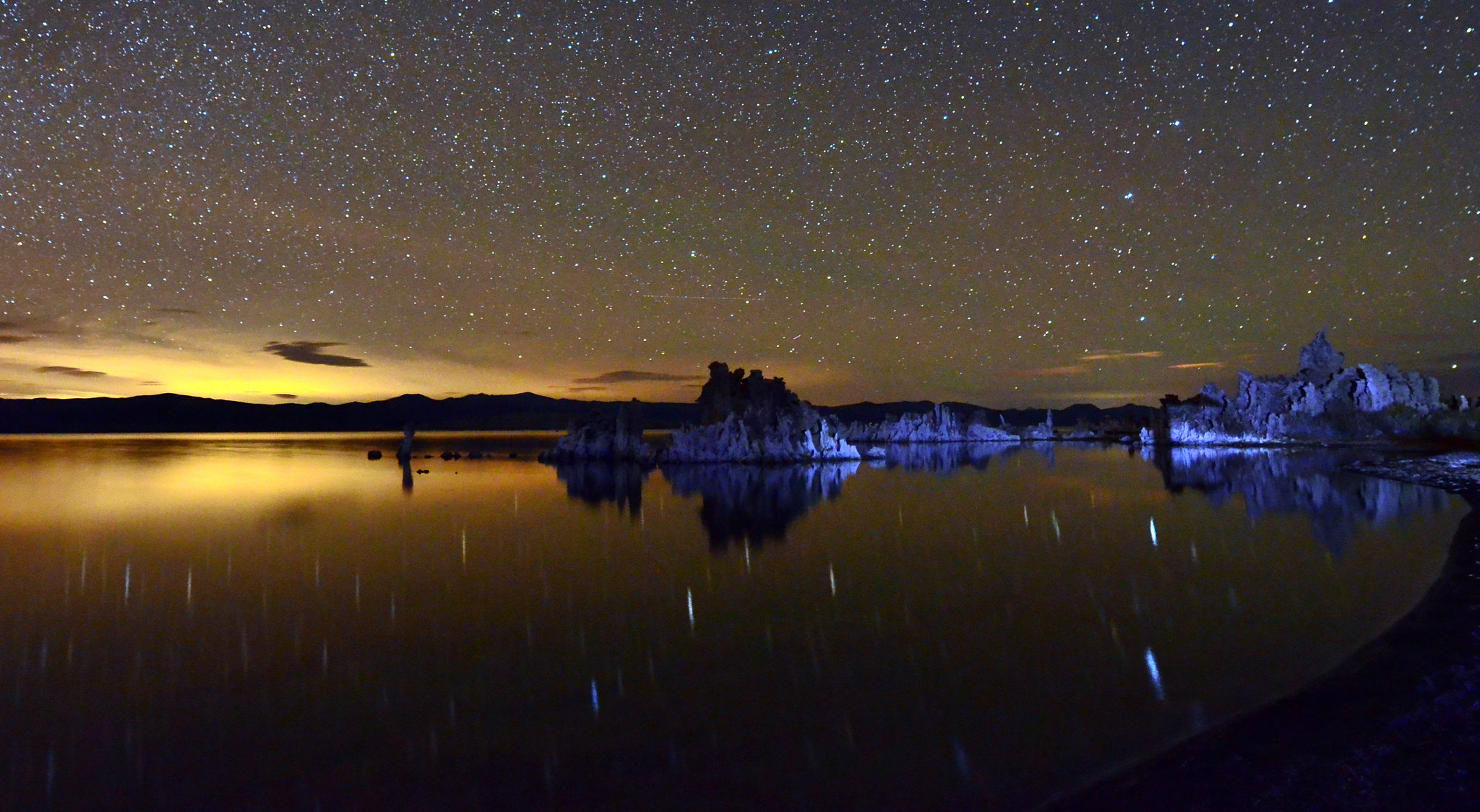 Photograph Mono Lake Star Reflections by Shreenivasan Manievannan on 500px