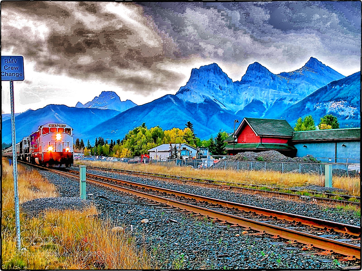 Photograph My Train Rocky, Canmore. by Kenneth r Rowley on 500px