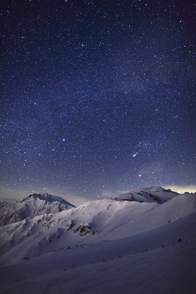 Photograph Back of Tateyama mountain range  & The Milky Way  by Noriko Tabuchi on 500px