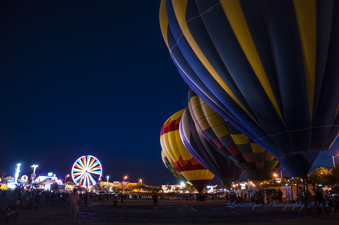 Photograph Hot Air Balloons By The Carnival Light by Edie G. on 500px