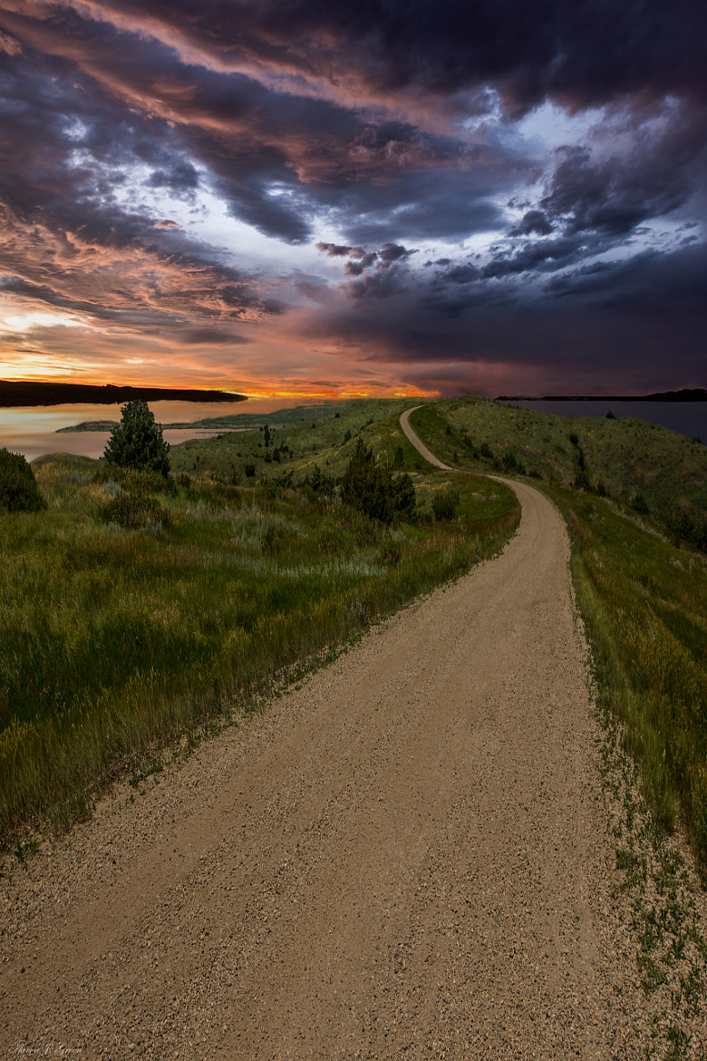 Photograph Road to Nowhere - Stormy Little Bend by Aaron J. Groen on 500px