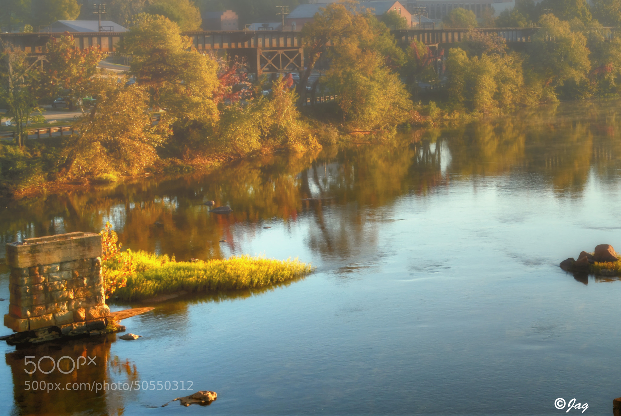 Photograph Misty Morning on The James River by James Gramm on 500px