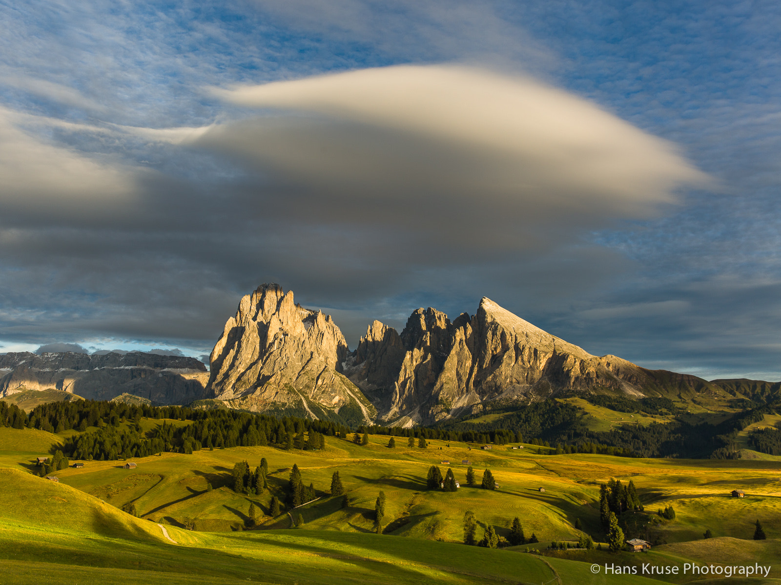 Photograph Alpe di Siusi with lenticular clouds by Hans Kruse on 500px