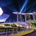 Nightly light show, Wonder Full, at Marina Bay Sands, Singapore.