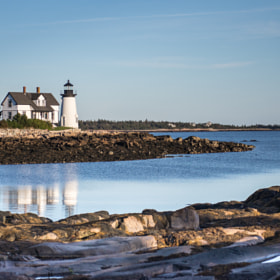 Prospect Harbor Point Light, Gouldsboro, Maine, late afternoon, October 2013