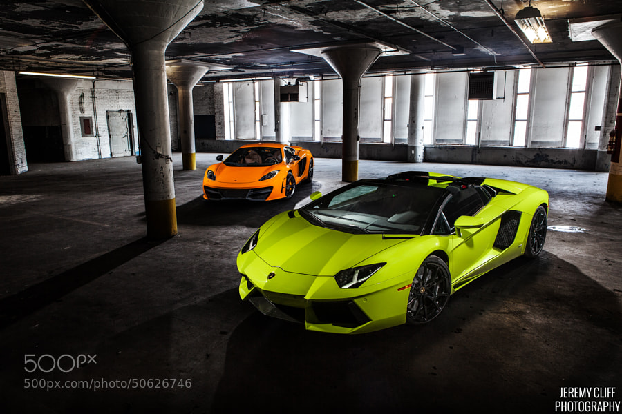 Photograph Lamborghini Aventador Roadster & Mclaren MP4-12C by Jeremy  Cliff on 500px