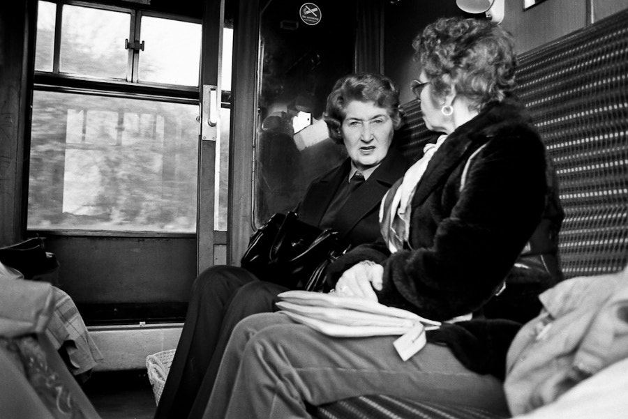 Photograph Ladies on a train (1984) by Byron Edwards on 500px