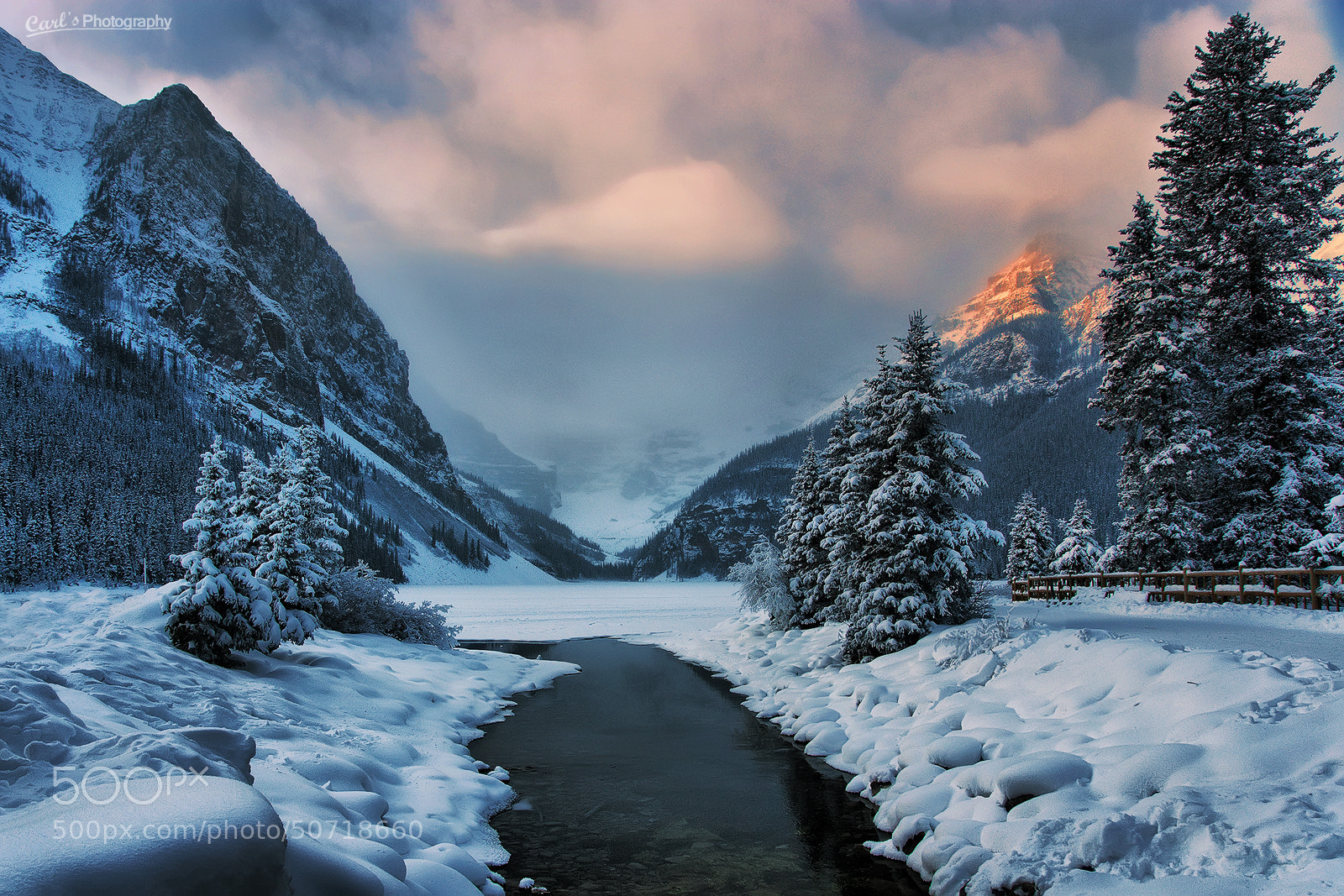 Photograph Lake Louise In Winter by Carl Pan on 500px