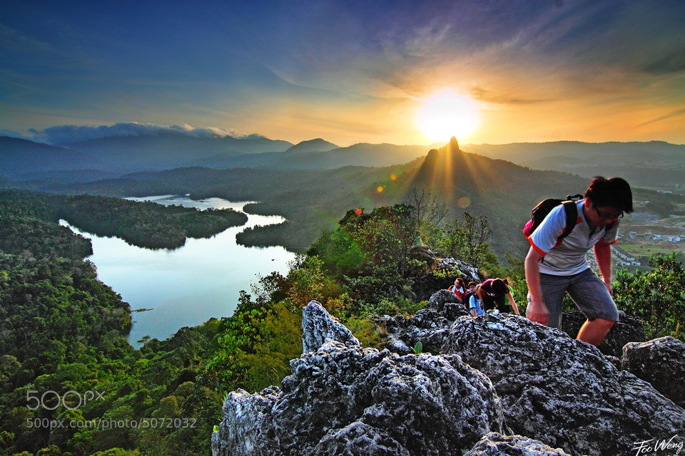 Photograph Sunrise Hike by Foo Weng on 500px